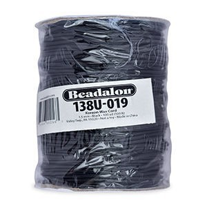 Beadalon® Korea Wax Cord 1.5mm Black 100yd