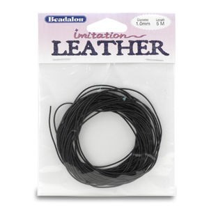 Beadalon® Imit. Leather 1.0mm Black 5m