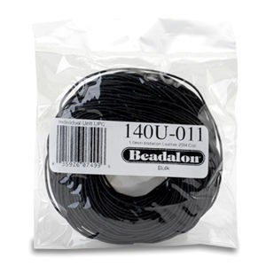 Beadalon® Imit. Leather 1.0mm Black 25m