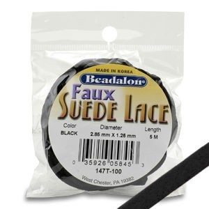 Beadalon® Faux Suede 3.2mm Black 5m