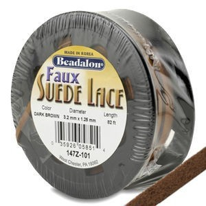 Beadalon® Faux Suede 3.2mm Dark Drown 25m