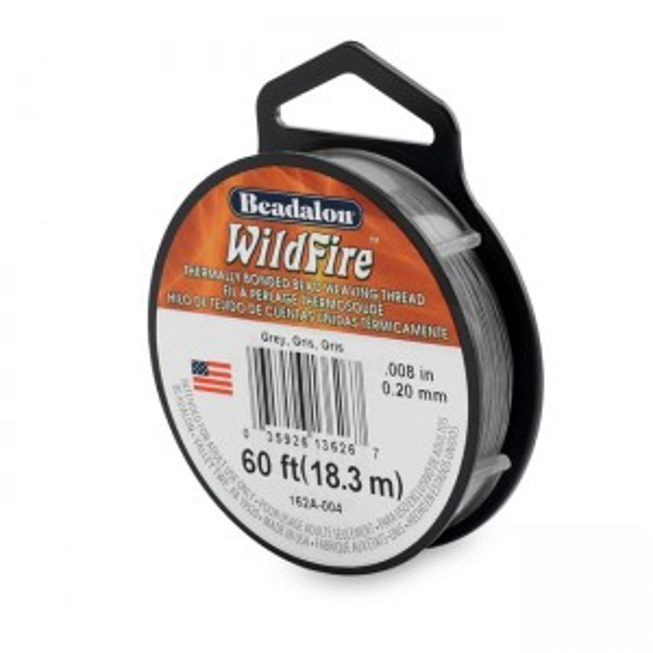 Beadalon® Wildfire .008in (.20mm) Grey 20yd (18m)