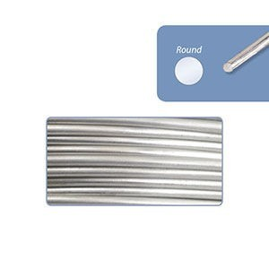 Beadalon® 316l Stainless Steel Wrapping Wire Round 18 Gauge (.040in 1.02mm) 56ft (17m) 1/4lb (.11kg)