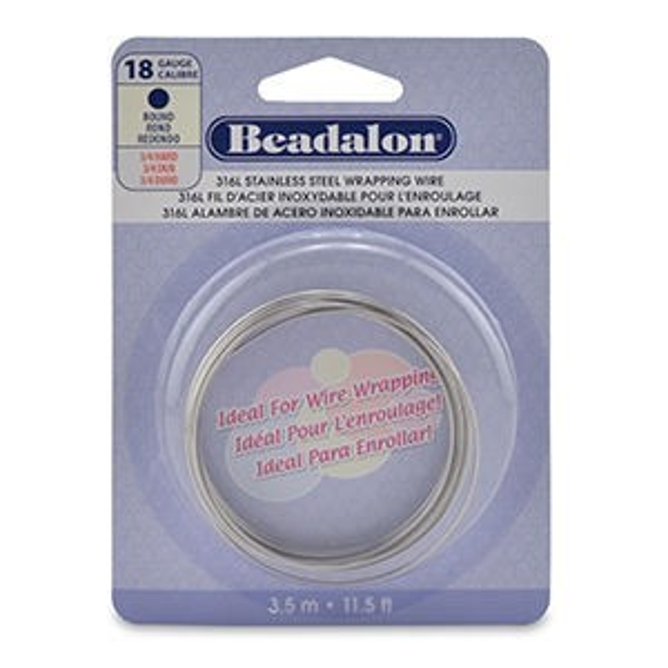Beadalon® Stainless Round Bright 18ga 3.5m