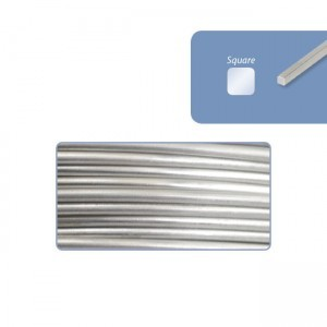 Beadalon® 316l Stainless Steel Wrapping Wire Square 21 Gauge (.028in .72mm) 89ft (27m) 1/4lb (.11kg)