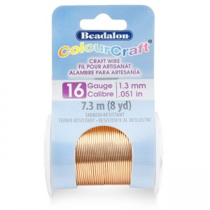Beadalon® ColourCraft Wire 16 Gauge (0.050 in 1.3mm) Copper Color 7.3m (8yd)