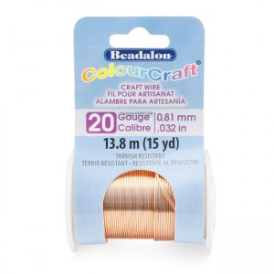 Beadalon® ColourCraft Wire 20 Gauge (0.032 in 0.81mm) Copper Color 13.8m (15yd)
