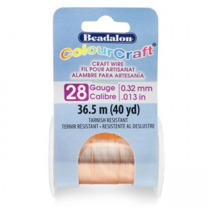 Beadalon® ColourCraft Wire 28 Gauge (0.013 in 0.32mm) Copper Color 36.5m