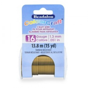 Beadalon® ColourCraft Wire 16 Gauge (1.30mm 0.050in) Tarnish Resistant Rose Gold Plated 7.3m (8yd)
