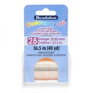 Beadalon® ColourCraft Wire 28 Gauge (0.32mm 0.013in) Tarnish Resistant Rose Gold Plated 36.5m
