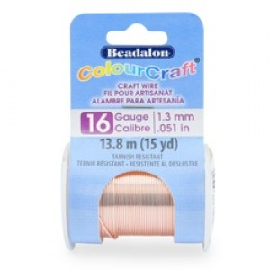 Beadalon® ColourCraft Wire 16 Gauge (1.30mm. 0.050in) Tarnish Resistant Vintage Bronze 7.3m (8yd)