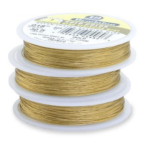 Beadalon® 19 Strand Wire .015 Inch Gold Color 30 Feet