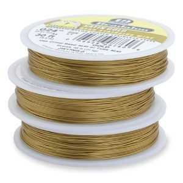 Beadalon® 19 Strand Wire .012 Inch Satin Gold 100 Feet