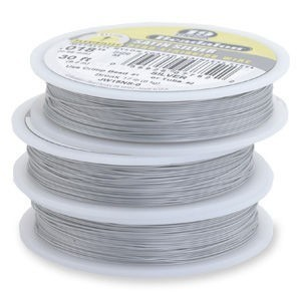 Beadalon® 19 Strand Wire .015 Inch Satin Silver 30 Feet