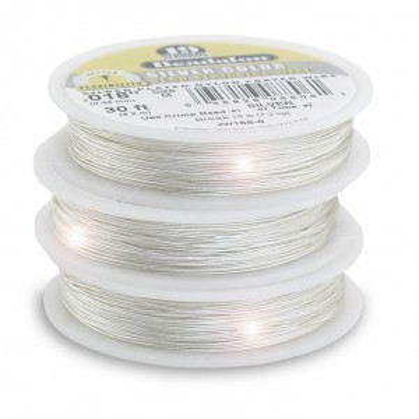 Beadalon® 19 Strand Wire .024 Inch Silver Color 100 Feet