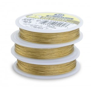 Beadalon® 19 Strand Wire .018 Inch Gold Color 100 Feet