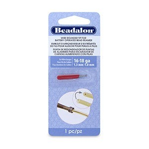 Beadalon® Wire Rounder Burr Attachment for Bat Oper Bead Reamer 16 and 18 Ga Wires