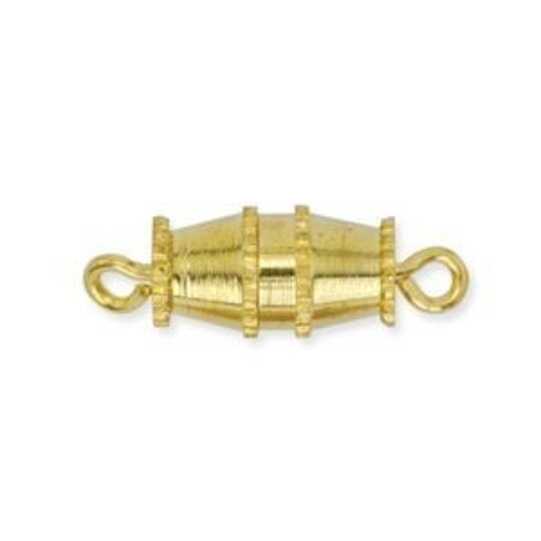 Beadalon® Barrel Clasp Med Gold Color 6p