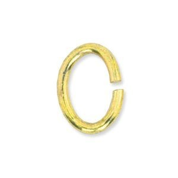Beadalon® Jump Ring 4.5x6mm Gold Color 45pcs