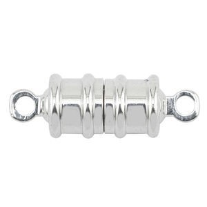 Beadalon® Magnetic Clasp 6mm Tub/Lin Nickel-Free Silver Plated 72sets