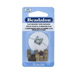 Beadalon® Flat Memory Wire Finding Square Cup 6 Mm (.236 In) Raw Brass 15 Pc