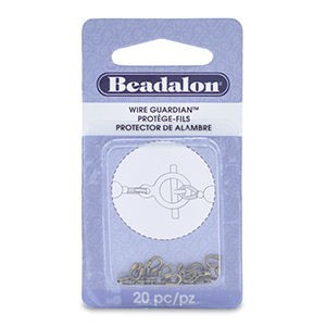 Beadalon® Wire Guardian .022 Inch Id Plated Ant Brass 20pc