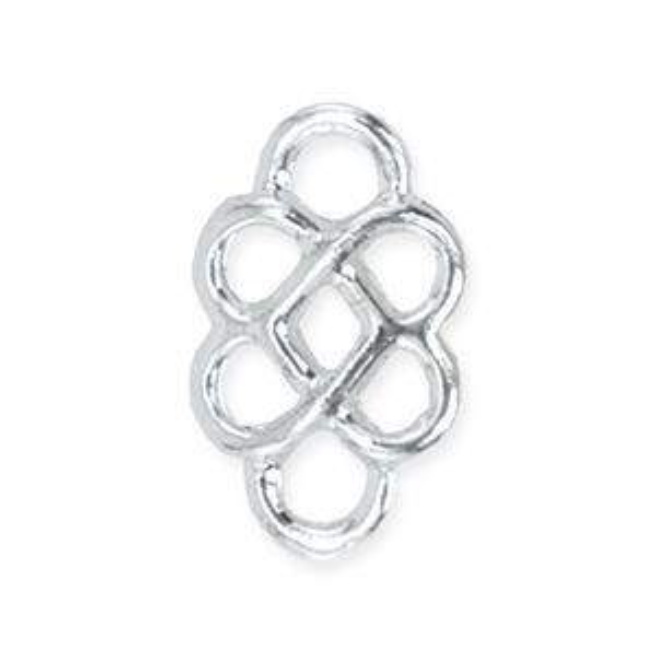 Beadalon® Connector 3d Knot Silver Plate 10pcs