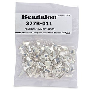 Beadalon® Pend Bail 10mm Nickel-Free Silver Plate 144pcs