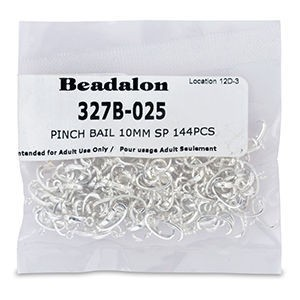 Sterling Silver Bails with Loop for Gluing 4320 Pear Fancy Crystals 10mm 14mm