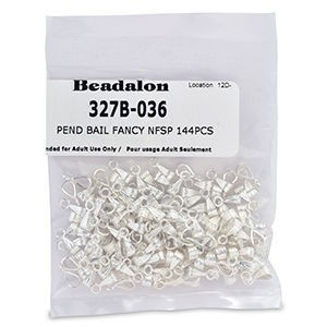 Beadalon® Pend Bail Fancy Nickel-Free Silver Plate 144pcs