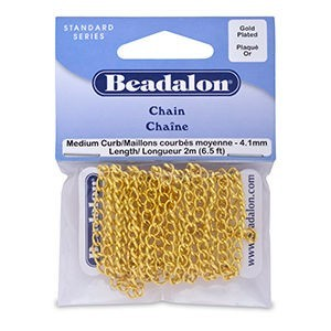 Beadalon® Chain 4.1mm Curb Gold Color 2m