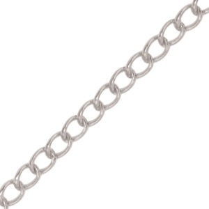 Beadalon® Chain 4.1mm Curb Silver Plated 2m
