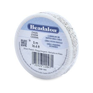 Beadalon® Chain 2.3 Mm (.091 In) Dapped Small Cable Silver Plated 5 M (16.4 Ft)