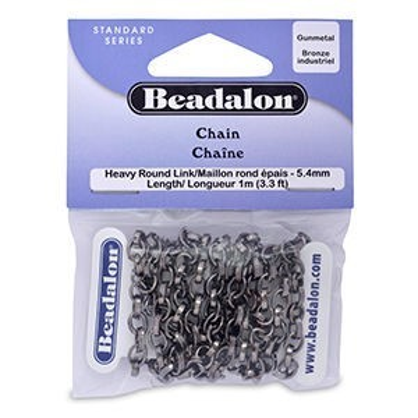 Beadalon® Chain 5.4mm Hvy Round Lnk Hc 1m