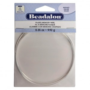 Beadalon® Memory Wire Flat Necklace Silver Plated 0.35 oz (1g) apx 7 coils