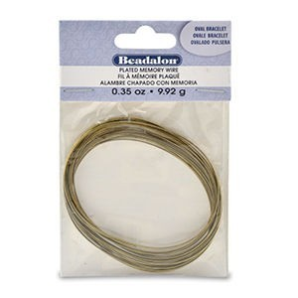 Beadalon® Memory Wire Bracelet Oval Antique Brass 0.35oz