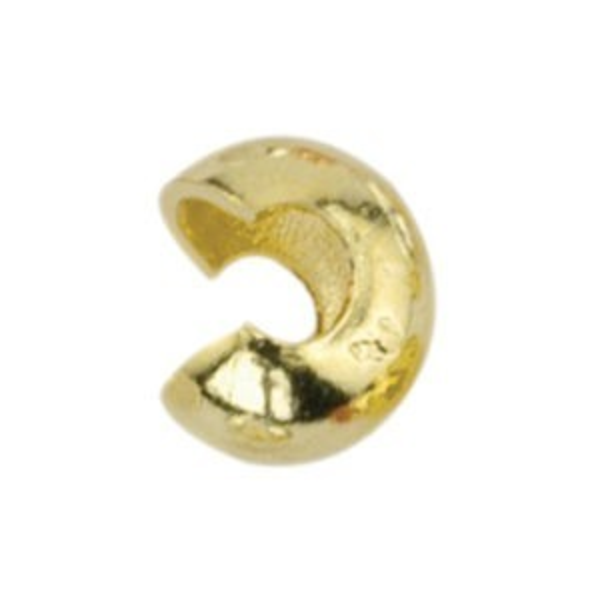 Beadalon® Crimp Cover 6mm Gold Color 144pcs