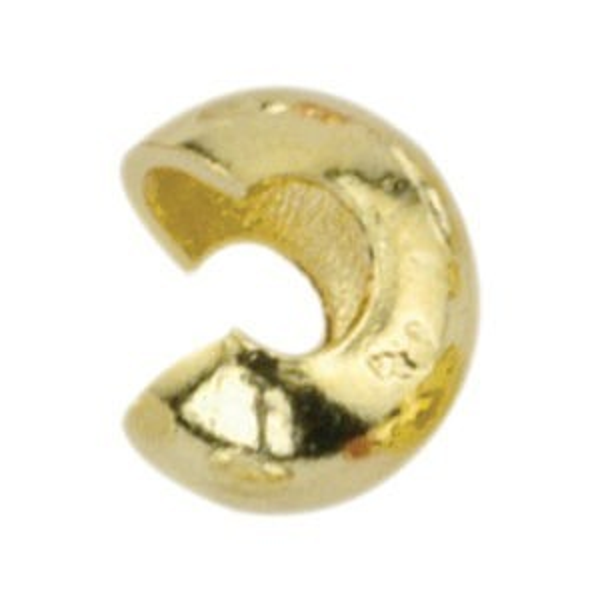 Beadalon® Crimp Cover 7mm Gold Color 144pcs