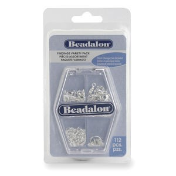 Beadalon® Silver Variety Pk Nfsp 112pcs