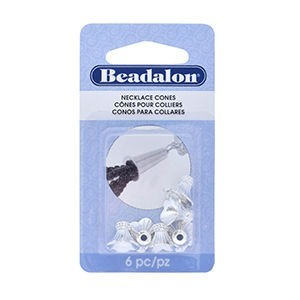 Beadalon® Necklace Cone Flower Pattern Length 9 Mm (.354 In) Hole Size 2.2mm (.087 In) Silver Plated 6 Pc