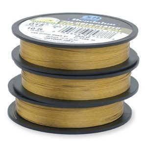 Beadalon® 49 Strand Wire .018 Inch Gold Plate 10ft
