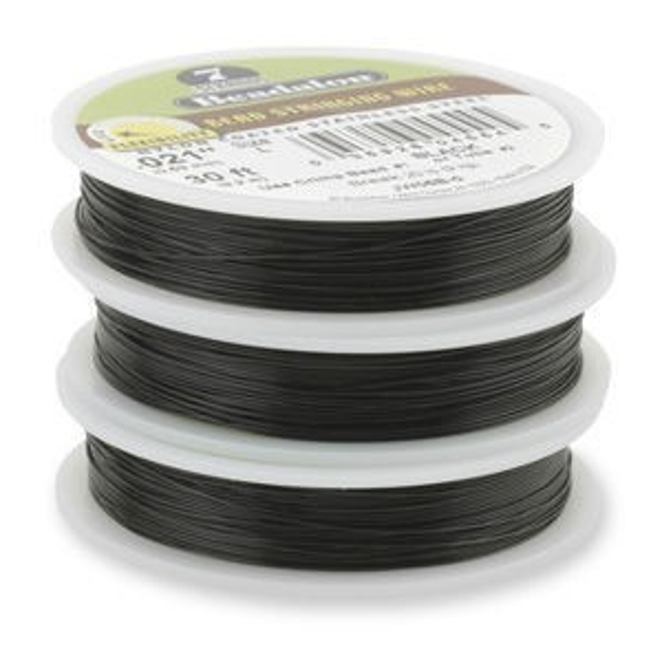 Beadalon® 7 Strand Wire .018 Inch Black 30 Feet