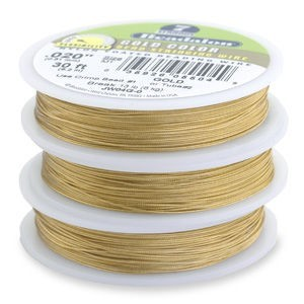 Beadalon® 7 Strand Wire .012 Inch Gold Color 30 Feet