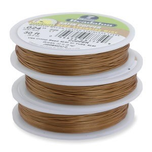 Beadalon® 7 Strand Wire .015 Inch Satin Copper 30 Feet