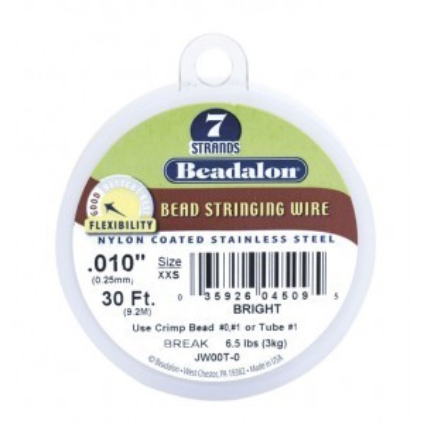 Beadalon® 7 Strand Wire .010 Inch Bright 30 Feet