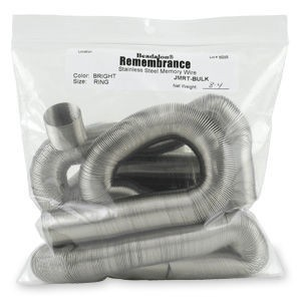 Beadalon® Memory Wire Ring Bright Bulk Apx 7-8 Oz