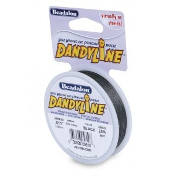 Beadalon® Dandyline 0.28mm Black 25m