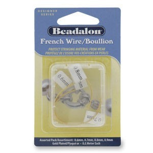 Beadalon® French Wire Gold Plated Assorted 0.4m