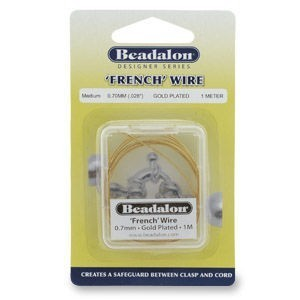 Beadalon® French Wire 0.6mm Gold Plated 1m