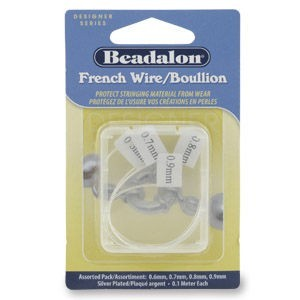 Beadalon® French Wire Silver Plated Assort 0.4m